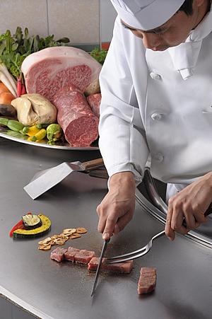 鉄板焼Dinner~高崎コース~:7,500円~最上階で愉しむ、鉄板ダイニング